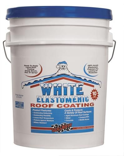 SealBest White Elastomeric Roof Coating - 4.75-gal.