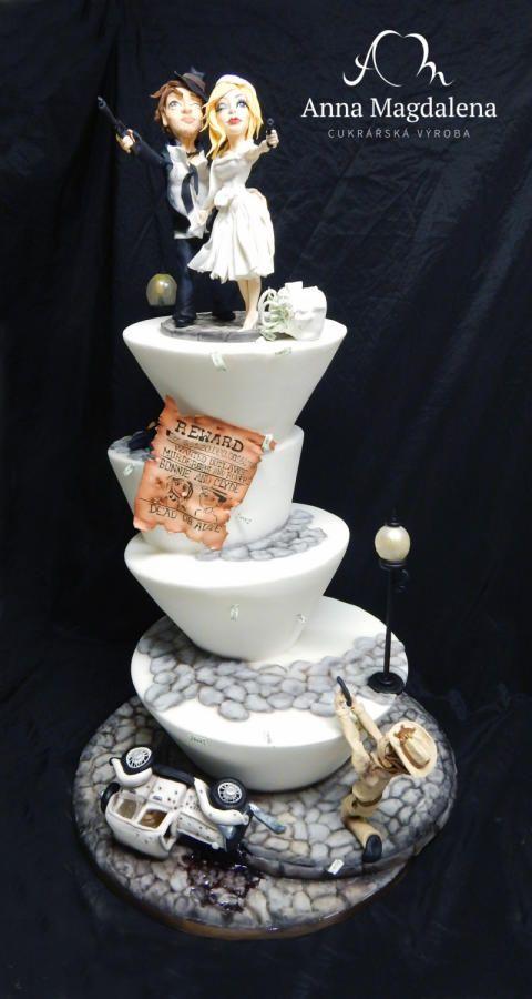 Bonnie and Clyde by Lucie Velechovská - http://cakesdecor.com/cakes/239872-bonnie-and-clyde