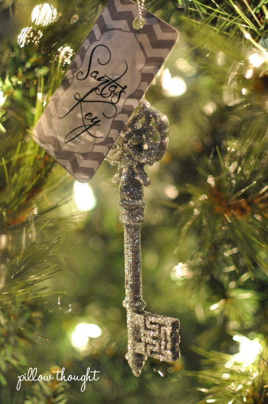 """Santa's Key- except use an old skeleton key to give the """"real"""" factor"""
