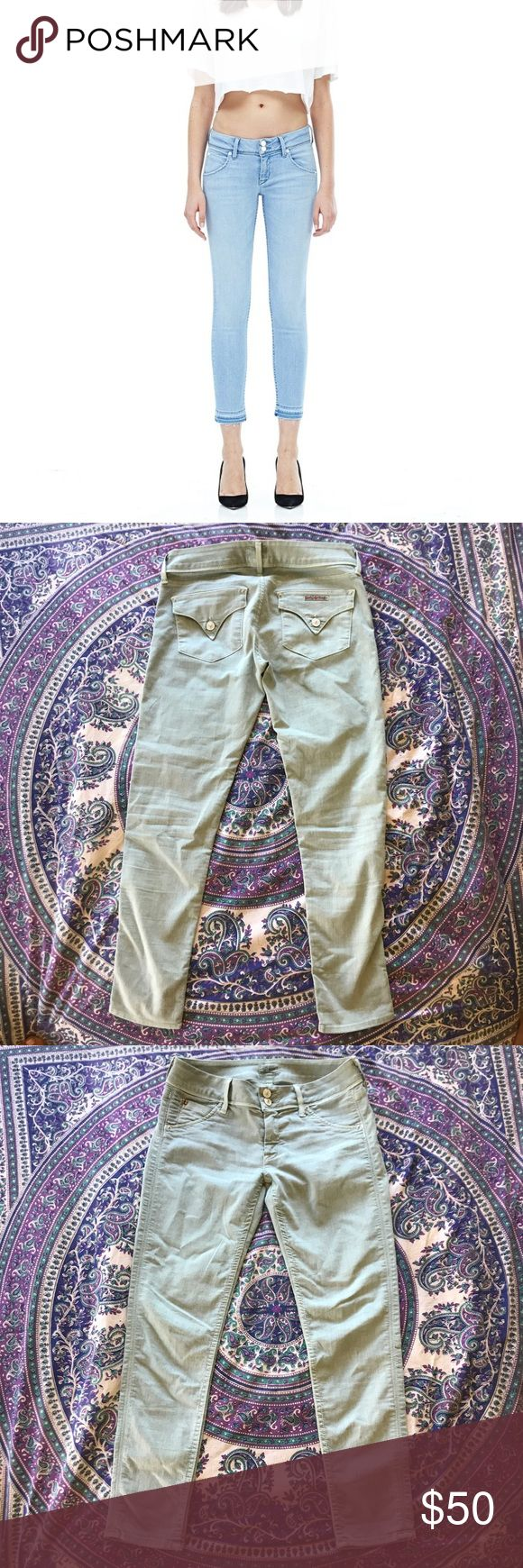 """Hudson Jeans - Collin Skinny Ankle Crop - 27 Gently worn with no signs of wear. Pictured is a different color way they have online now. This is a beautiful soft mint color jean. 26"""" inseam. Fits like 26/27 because of the stretch. Hudson Jeans Jeans Ankle & Cropped"""