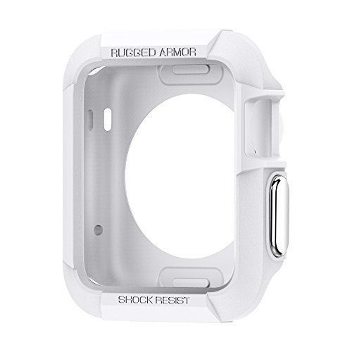 Apple Watch Rugged Armor Case 38mm Series 2 1 iWatch Protective Bumper White NEW #Spigen