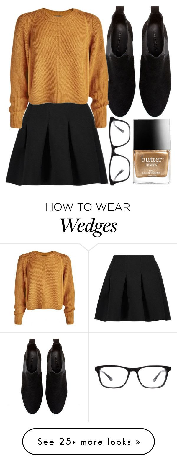 """""""golden browning girls"""" by icy-frappe on Polyvore featuring Zara, T By Alexander Wang, Butter London and Joseph Marc"""