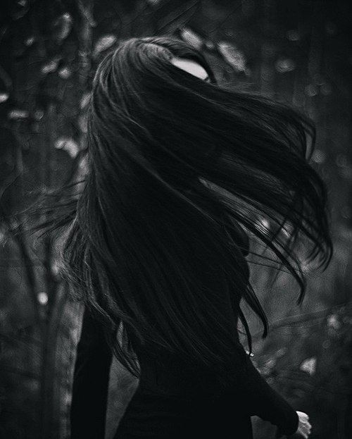 Black long hair