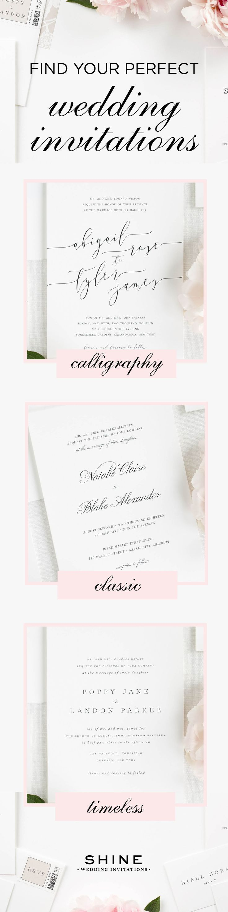 whats your wedding invite style - What Goes In A Wedding Invitation