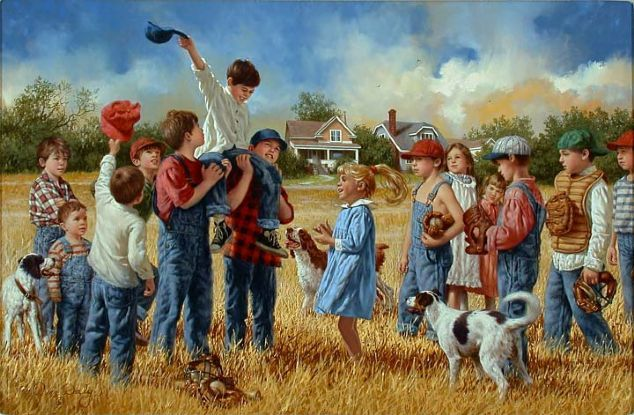 """Grand Slam"", by American artist - Jim Daly, (1940 - ), Oil"