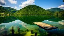 Yeşil Göl Güzellik Sanat Görünüm Diamonds Kristal Elmas Dekoratif Boyama Çapraz Dikiş Taklidi Duvar Sanatı Ev Dekor Hediye(China (Mainland))