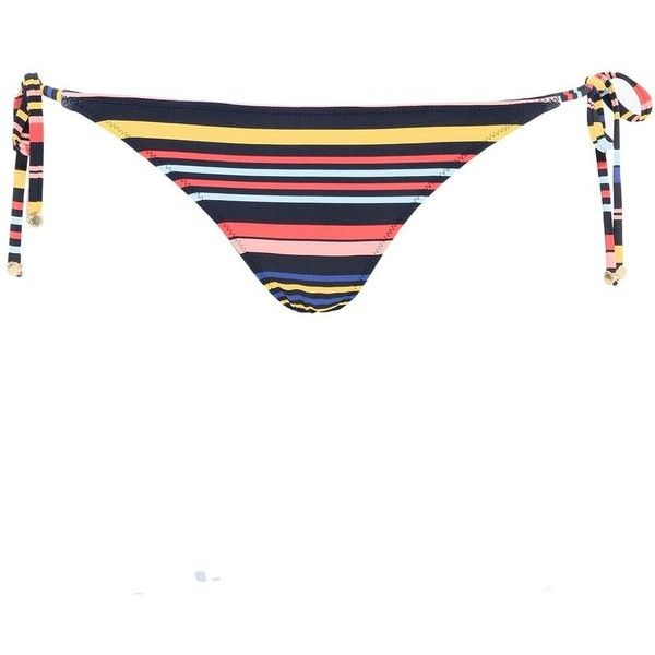 Stella Mccartney Multicolour Stripes Tie Side Bikini Bottoms ($84) ❤ liked on Polyvore featuring swimwear, bikinis, bikini bottoms, multicolour, bottom bikini, multi color bikini, side tie bikini bottom, stella mccartney and striped bikini