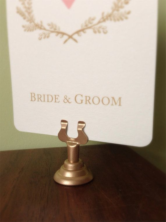 #2: Classic Gold Table Card Holders | Iu0027d Recommend Using The Same