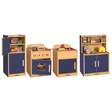 Colorful Essentials Play Kitchen 4 Pc Set Honor Roll Childcare Supply Daycare