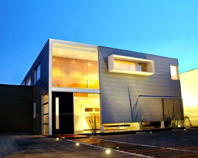1000 images about casas modernas modern homes on for Casa minimalista lima