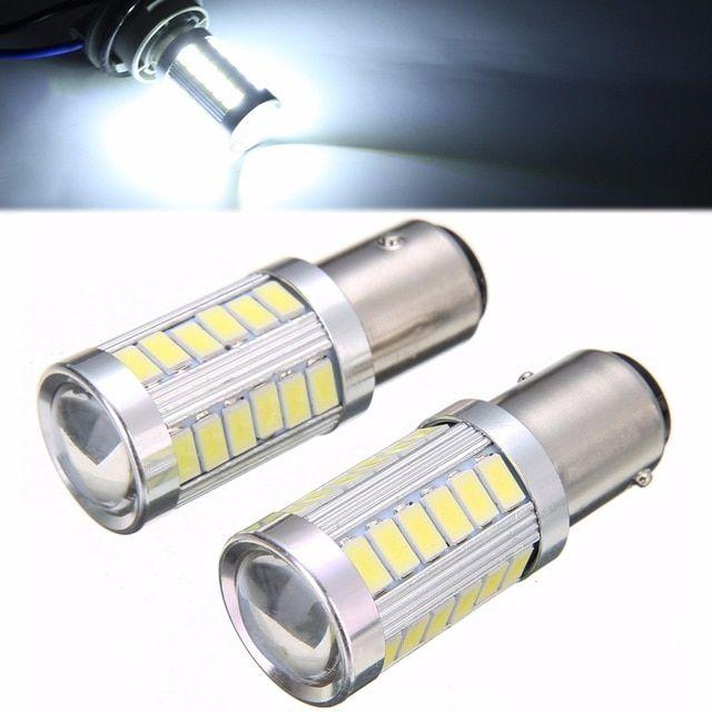 Hot Sale 2pcs Bay15d P21 5w 1157 33 Smd Led Car Headlight Backup Reverse Fog Head Light Replacement Bulb 6500k White Lighti Led Headlights Cars Lamp Light Bulb