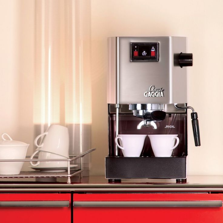 Gaggia Classic home espresso machine - makes your kitchen look great. Available at www.EspressoOutlet.net