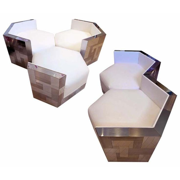 Paul Evans Cityscape Hexagonal Chairs   From a unique collection of antique and modern club chairs at http://www.1stdibs.com/furniture/seating/club-chairs/