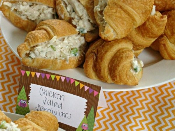 Woodland Animals Baby Shower Ideas | All the food items were labeled with place cards matching the party ...