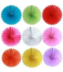 Paper fans ONLY $2 Available in pink, blue, red, yellow, hot pink, white, orange, green & purple. www.sweetlittlesoiree.com.au