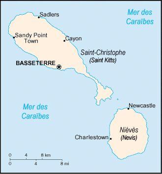 Saint Kitts and Nevis carte - Saint-Christophe-et-Niévès — Wikipédia