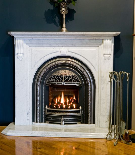 Windsor Arch With Cast Iron Plate And Highlighted Chrome Fireplaces Pinterest Best Windsor