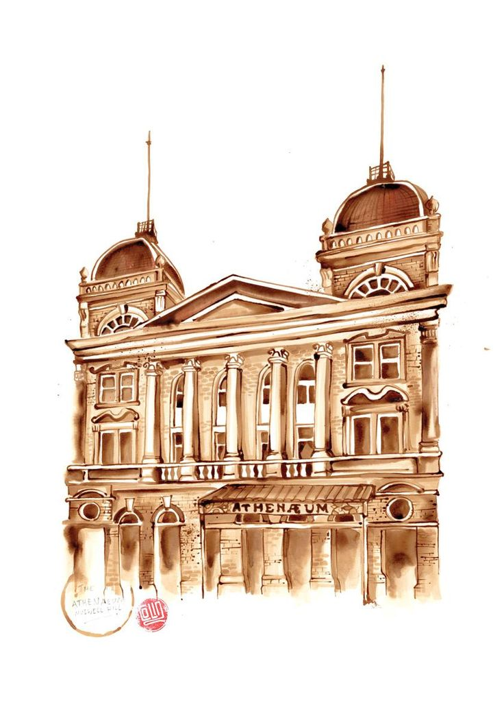 One of 15 coffee art paintings of notable buildings around the Muswell Hill area are augmented with Layar. Download the free Layar App, scan and reveal the history of each building!
