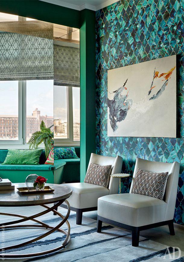 Синяя квартира в Петербурге, 78 м²