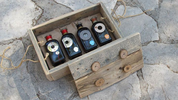 'Anama Complete Vintage Collection  Available upon special request, The 'Anama Vintage Collection, is a composition of all 'Anama Vintages (2007,2008, 2009 & 2010 in a hand-made up-cycled  palette wood box.