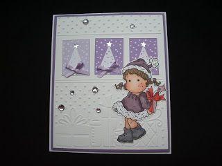 Márcia - cartões: Cartão de Natal - roxo