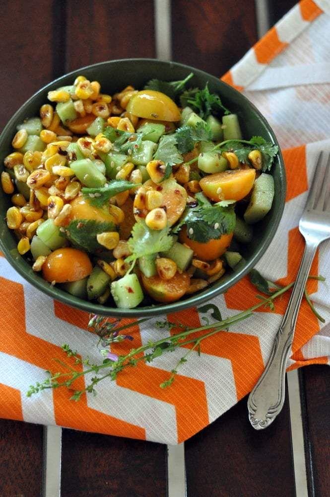 Cape Gooseberry and Corn Salad Recipe | sinamontales