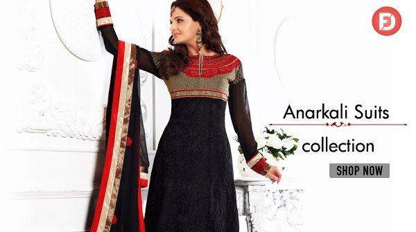 Show your Traditional Look with #ethnicwear. Buy #anarkalisuits at best price on #FarziDeal