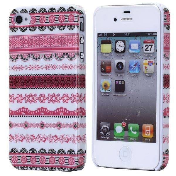 Roze tribal aztec hardcase hoesje voor de iPhone 4 / 4s