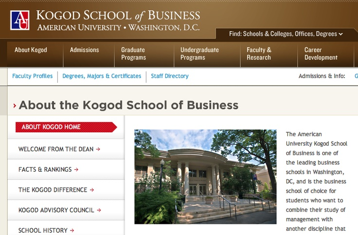 2007, Washington D.C. Studied Management at Kogod School of Business, at American University.