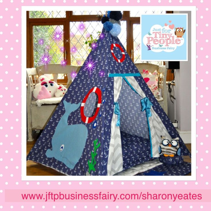 A brand new teepee from the Just For Tiny People Fairies, this magical den features an adorable under the sea design and is suitable for up to 12 years. With delightful patterned curtains and fluffy pom poms on top, this teepee will fast become a staple in your tiny person's bedroom.  - A children's magical teepee is approximately 145cm tall and 120cm square at the base