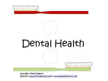 FREE Dental Health packet - sequencing, word cards, good for your teeth/not good for your teeth food sort, etc.