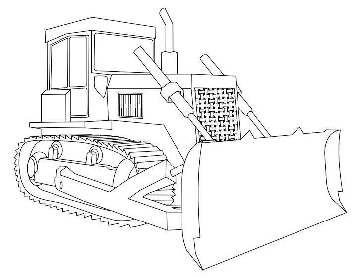 Bulldozer Coloring Page Funs Coloring Pages Color Fun