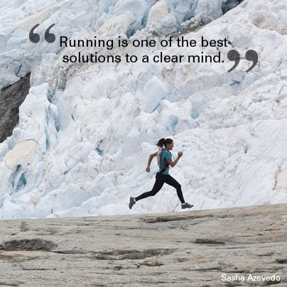 """""""Running is one of the best solutions to a clear mind."""" Sasha Azevedo #quote #motivational #travel"""