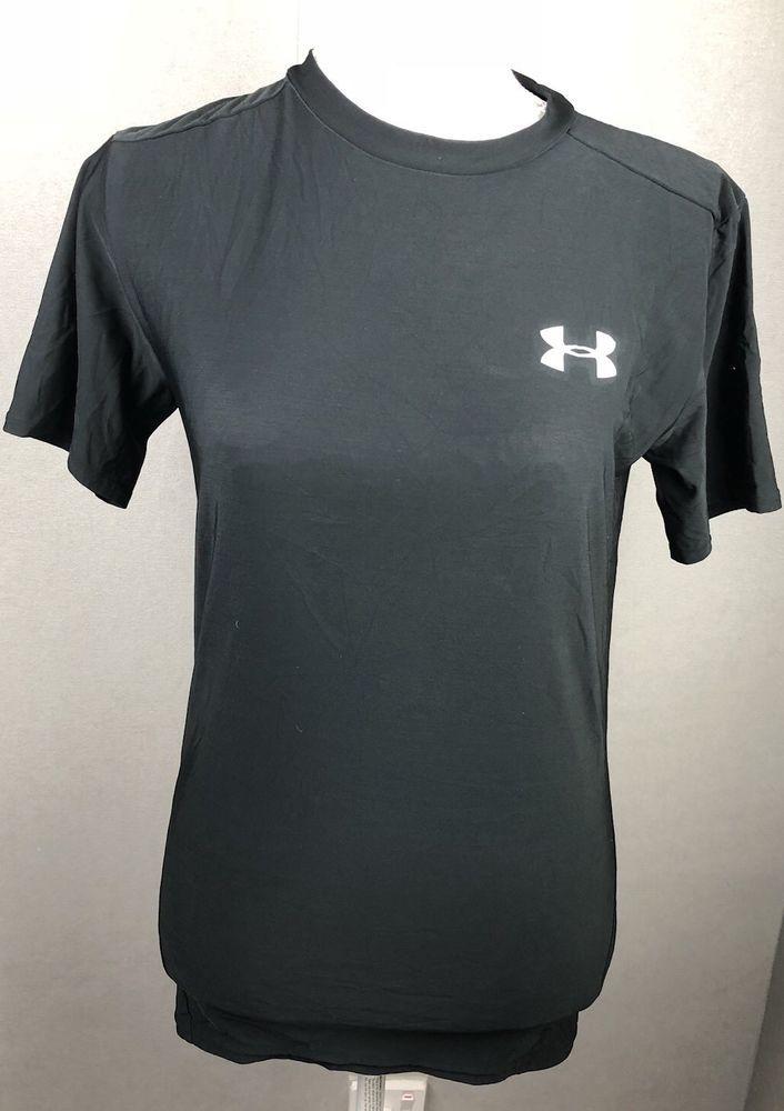 ac6c7c6e Under Armour Mens Black Size Medium Large Tshirt Short Sleeve Base Layer  Top #Underarmour #ActivewearShortSleeve