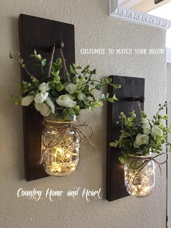 Home Decor Mason Jar Sconces Mason Jar Decor Farmh…