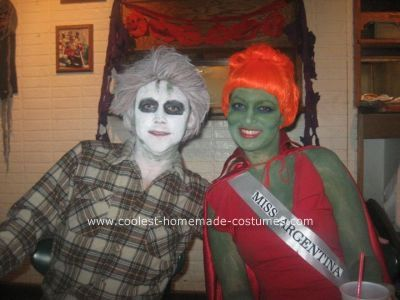 coolest homemade beetlejuice couple halloween costume idea - Original Ideas For Halloween