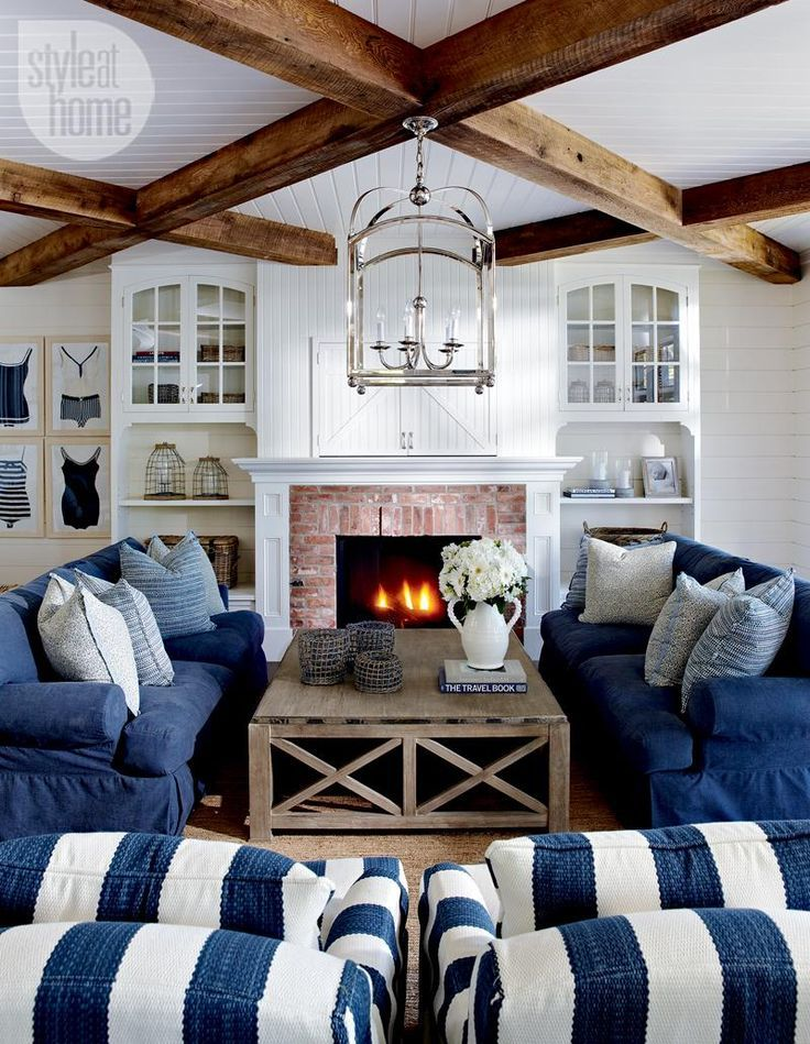 {Inspired By} Wood Beam U0026 Plank Ceiling Design | Design | Pinterest |  House, Home And Coastal Living Rooms