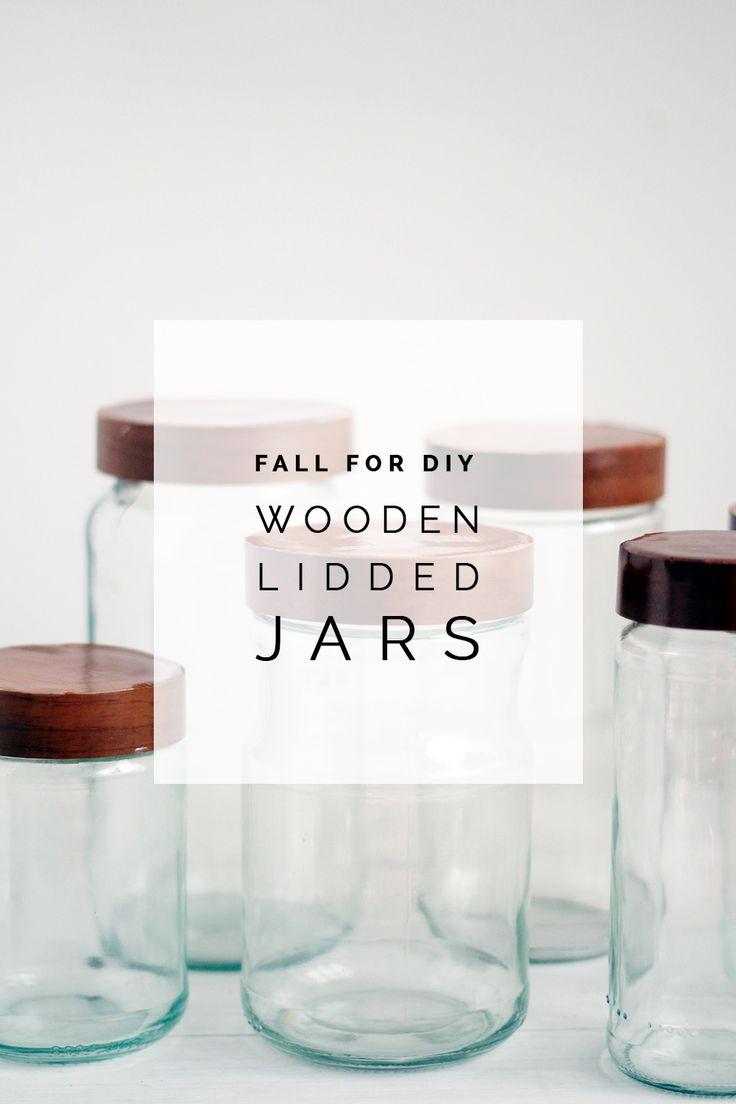 DIY Wooden Lidded Jars