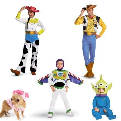Family Costumes for Halloween: Toy Story Costumes