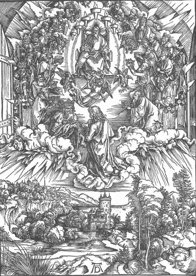 St John and the Twenty four Elders in Heaven (1497-1498) - Albrecht Durer