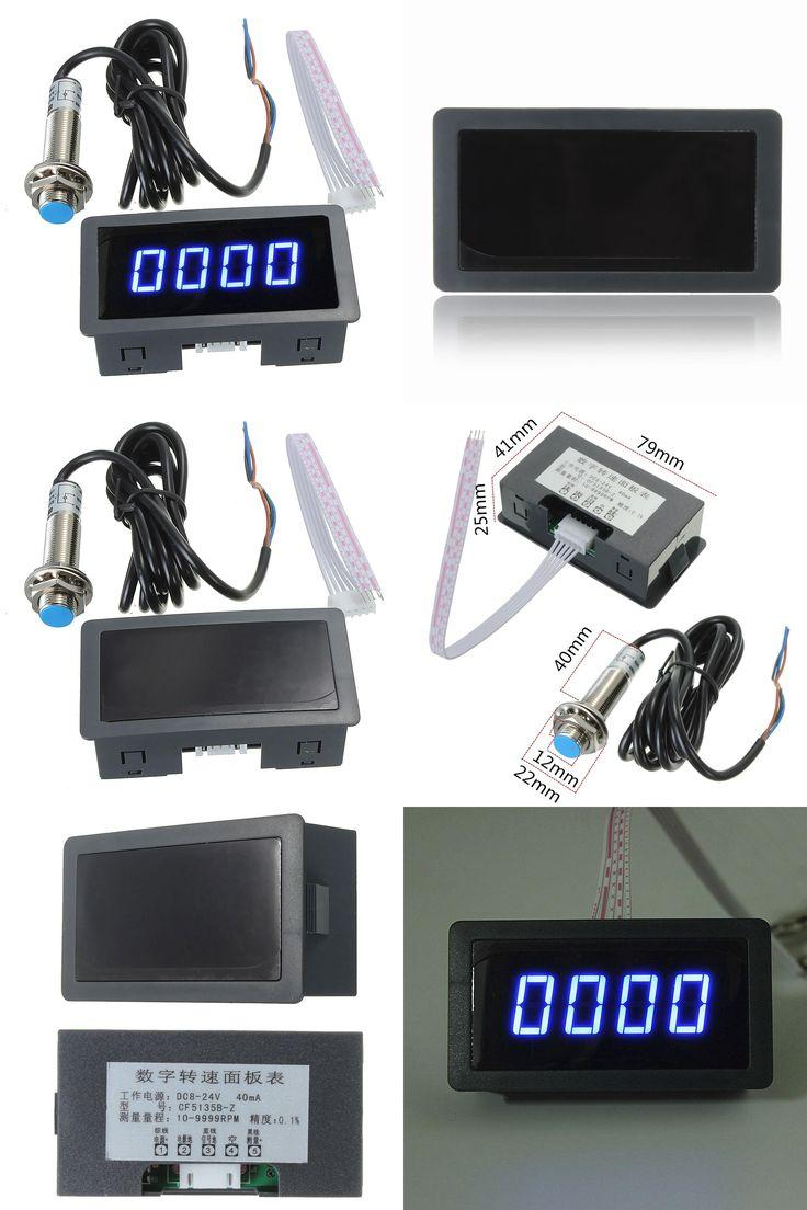 [Visit to Buy] 2016 Brand New 4 Digital LED Blue Tachometer RPM Speed Meter+Hall Proximity Switch Sensor NPN #Advertisement
