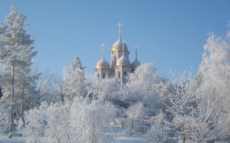 Vasilev's church, town Torzhok, Tver oblast, Russia. Winter. Rural