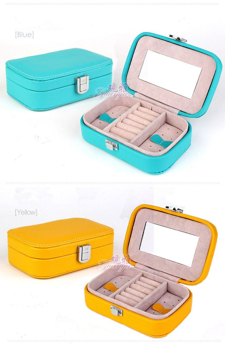 High grade leather jewelry sets box Jewellery display Many color wholesale gift box makeup organizer-in Jewelry Sets