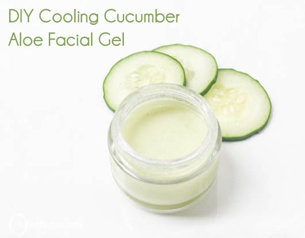DIY cooling cucumber aloe facial gel