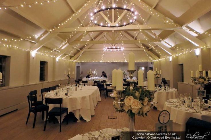 Stoke Place Ballroom, with fairy light star