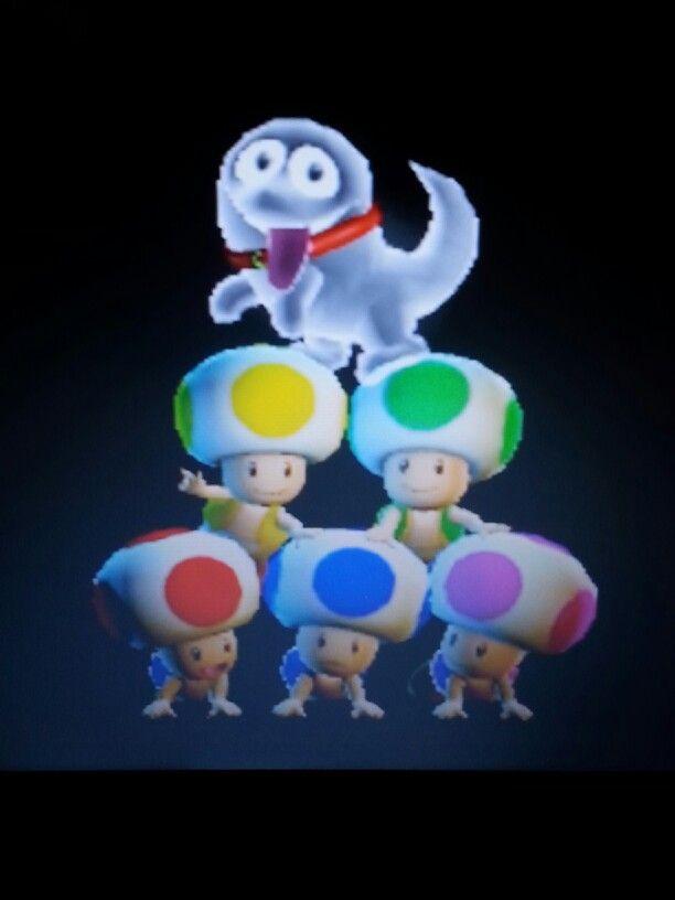 Luigi's Mansion Dark Moon - ending credits scene...(Polterpup (Luigi's new pet on top!!))