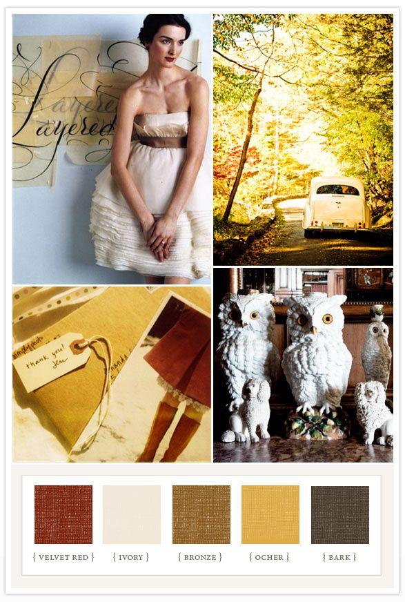 Good colors.Warm Colors, 100 Layered, Pretty Colors, Autumn Fall Wedding, Colors Palettes, Colors Schemes, Fall Weddings, Layered Cake, Colors Boards