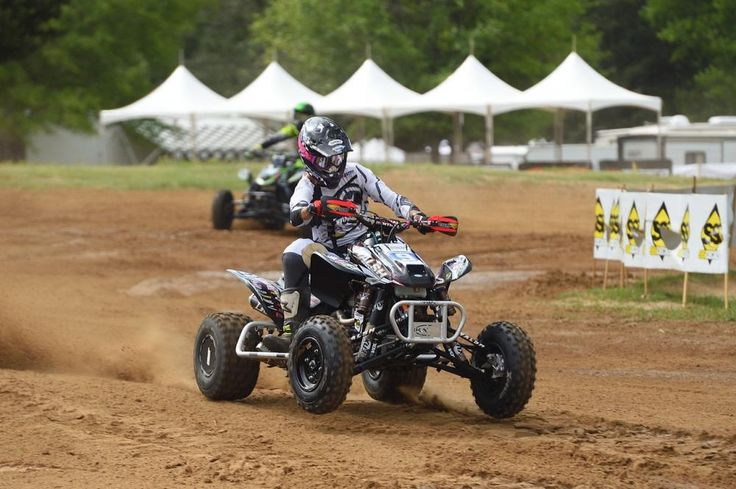 Parker Wewerka racing in the AMA ATV MX National Championship
