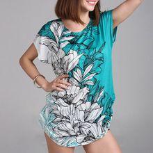 40 disegni new 2016 donne di estate casual t-shirt vestiti della ragazza di modo  Cotone tops & tees più il formato per s-5xl donne 3xl stampato(China (Mainland))