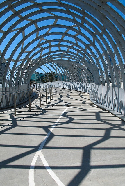 Webb Bridge - Victoria Harbour, Melbourne Docklands. My daily trek to work..via..
